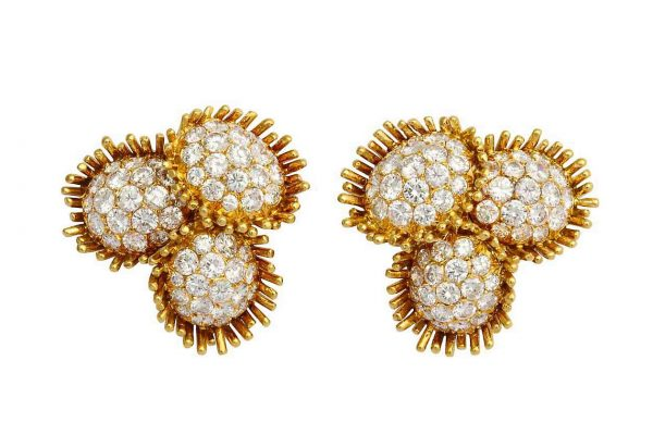 "van cleef and arpels ""sunflower earrings"""