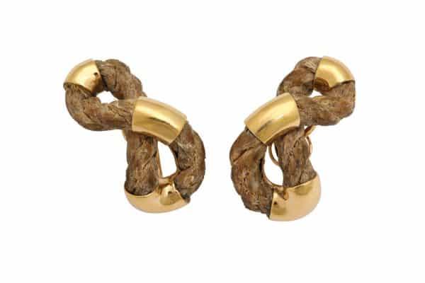boucheron rope twist earrings
