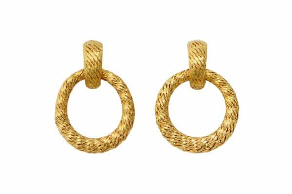 david morris vintage 18k doorknocker earrings