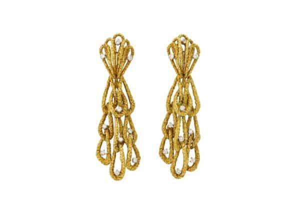 david morris 18k and diamond earrings
