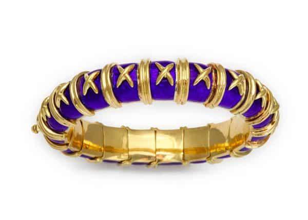schlumberger paillone enamel x bracelet