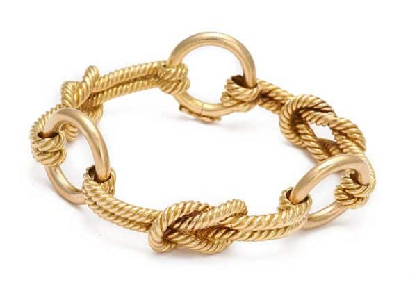 hermes 18k gold nautical link bracelet