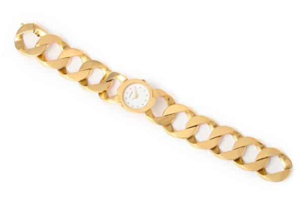 verdura curb link 18k watch