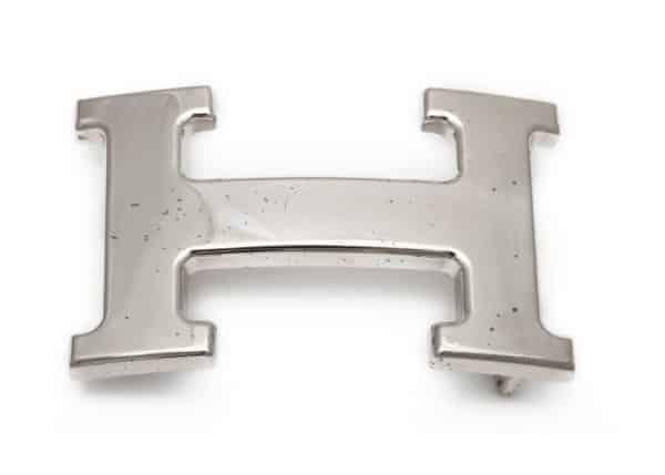 "hermes ""H"" belt buckle"