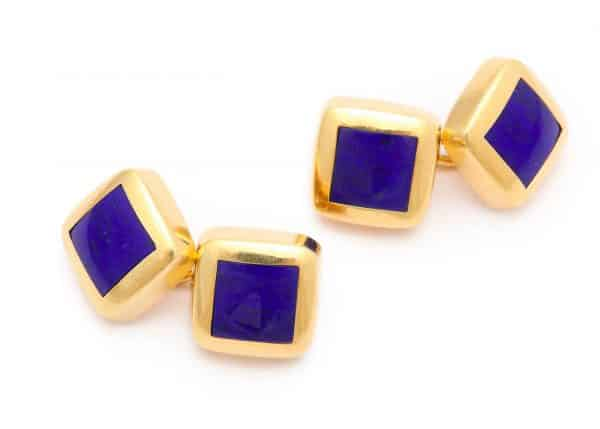 vintage tiffany 18k gold cufflinks