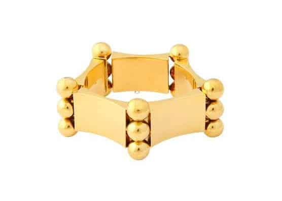 vintage 1940's 18k gold geometric bracelet