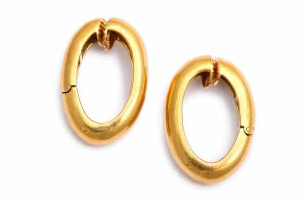 david webb 18k hoop earrings