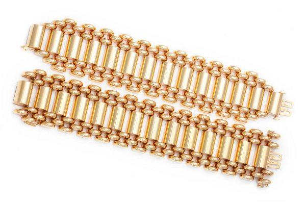 mossalone 24k gold retro 1940s american bracelets