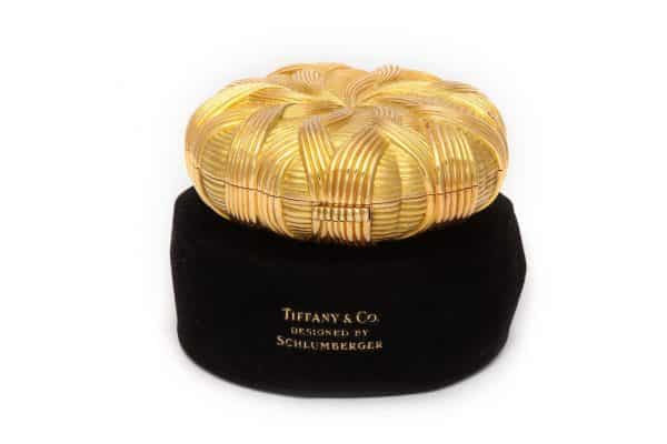 schlumberger 18k gold wave compact
