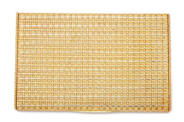 schlumberger flat weave 18k gold cigarette case