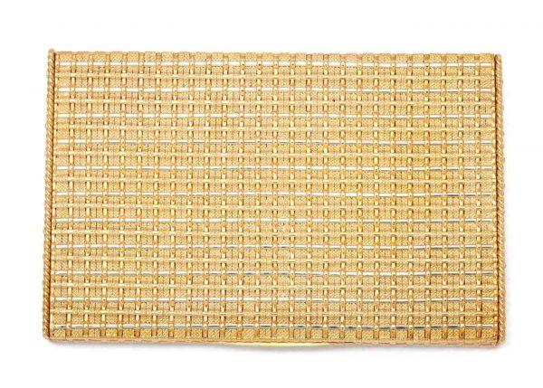 schlumberger flat weave 18k gold cigarette case