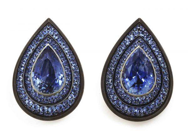 hemmerle sapphire earclips