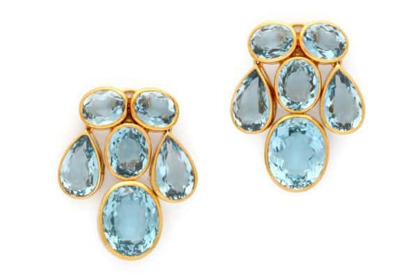 peggy guinness blue topaz earrings