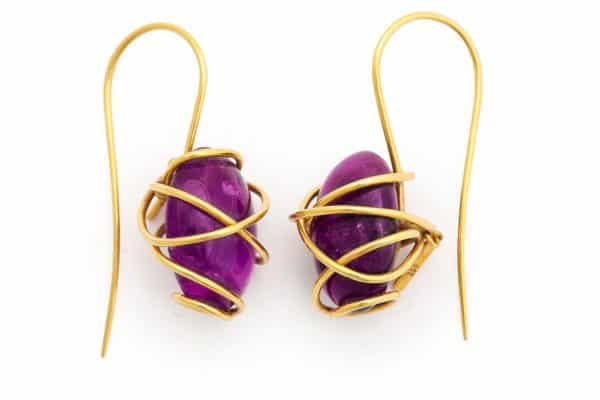 tina chow amethyst earrings