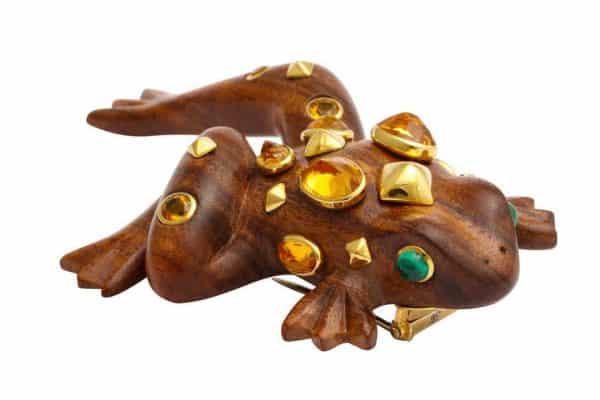 seaman schepps frog brooch