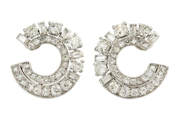 rene boivin diamond earrings