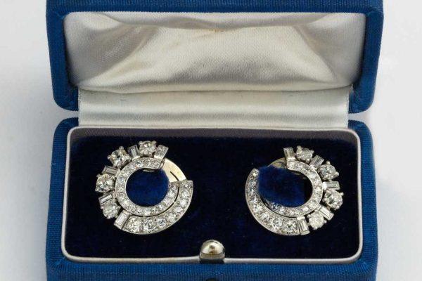rene boivin diamond earrings
