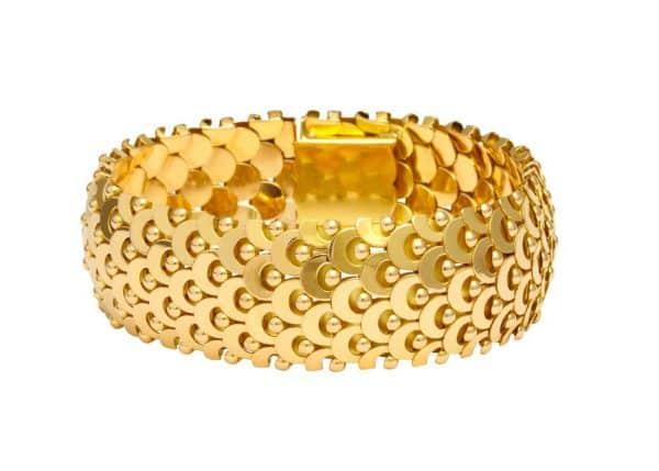 rene boivin dimensional gold bracelet