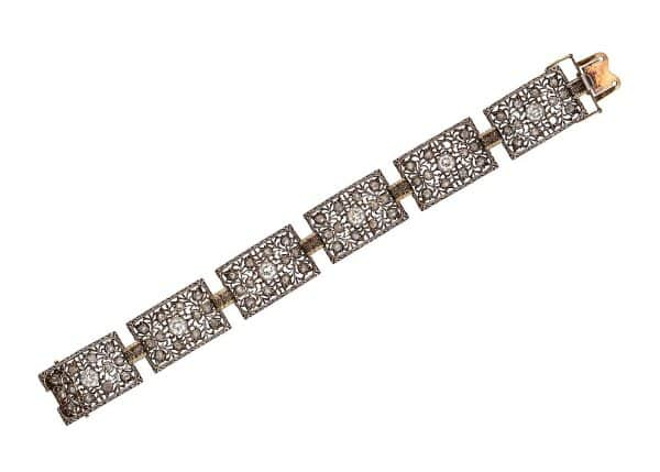 buccellati 18k with gold and diamonds bracelet