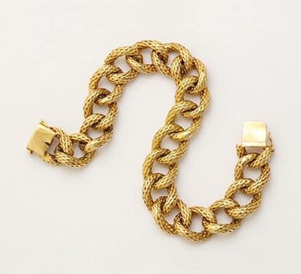 cartier 18k link bracelet