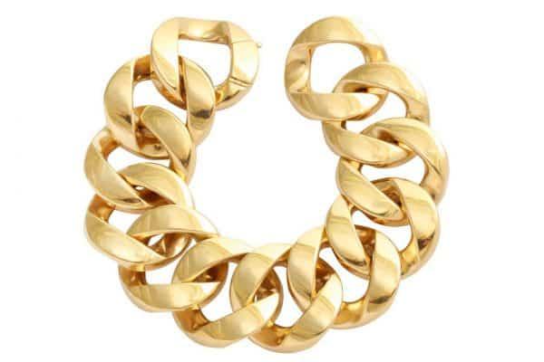 cartier gold curb link bracelet