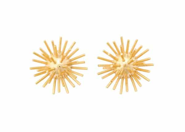 "vintage cartier ""sputnik"" ear clips"