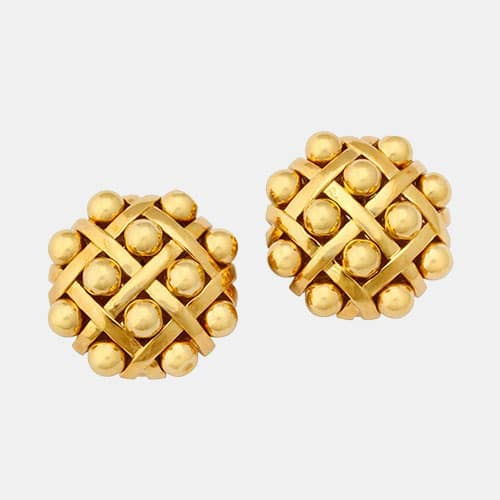 chanel 18k earrings