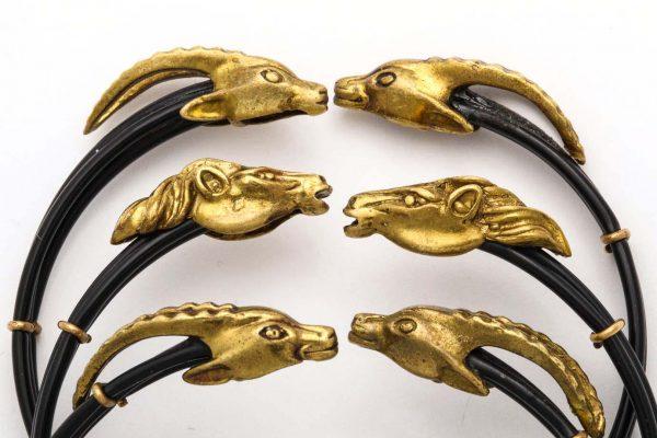 set of three horsehair bangles