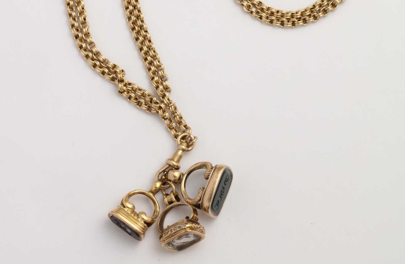 Antique Fob Chain Necklace With
