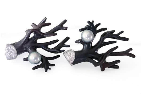 silvia furmanovich jacaranda black coral earrings