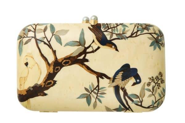 silvia furmanovich marquetry clutch/handbag