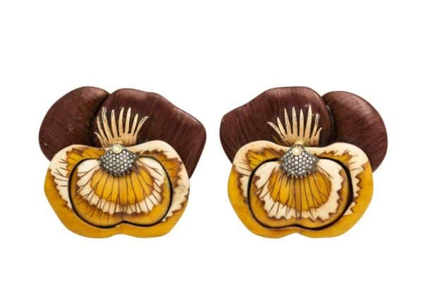 silvia furmanovich pansy earrings