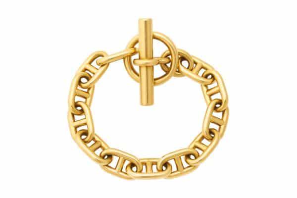 hermes 18k chaine d'ancre bracelet