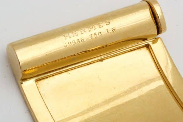 "hermes 18k gold ""lattice"" wide cuff"