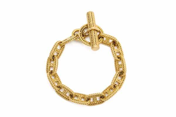 hermes chaine d'ancre 18k bracelet