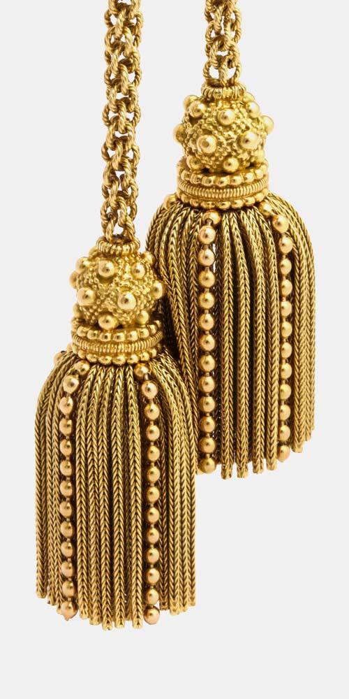 hermes gold tassel lariat