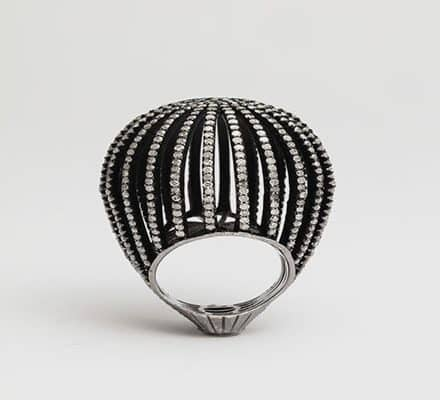 "rebecca koven ""caged"" diamond ring"