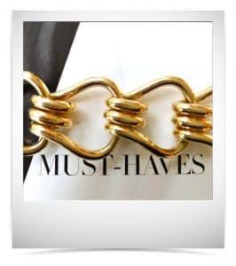 seaman schepps style mousetrap gold bracelet