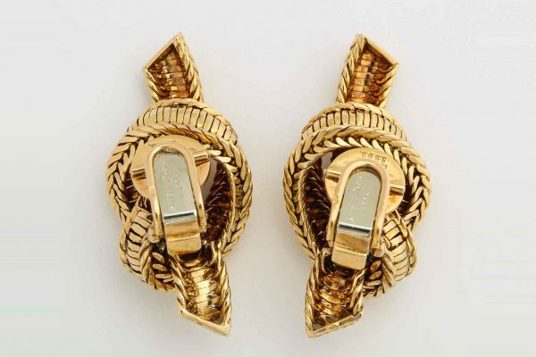 pierre sterle rope twist earrings