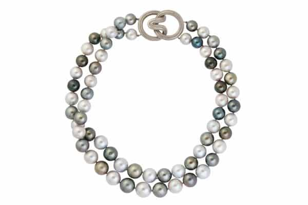 tahitian and cultured pearl walling necklace