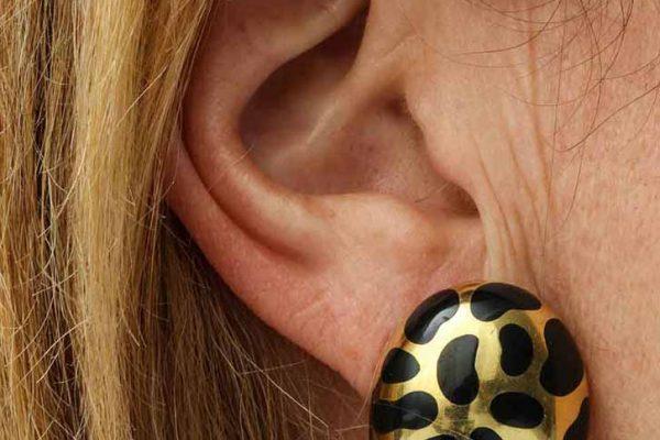 angela cummings leopard spot earrings