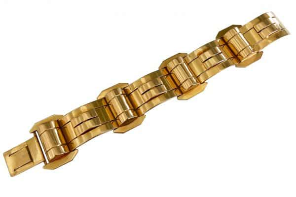 retro eighteen carat gold bracelet