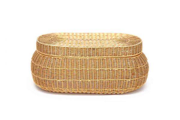 schlumberger 18k vintage basket weave minaudiere