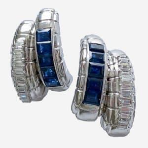 marina b. 1970s sapphire and diamond ring