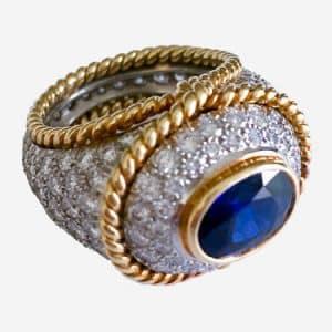 tiffany sapphire and diamond ring