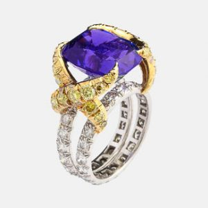 schlumberger tanzanite ring