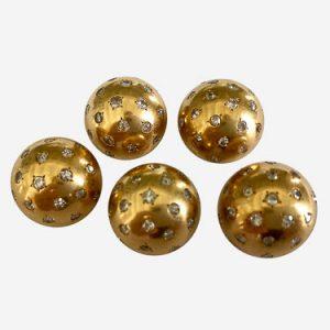van cleef gold and diamond pins