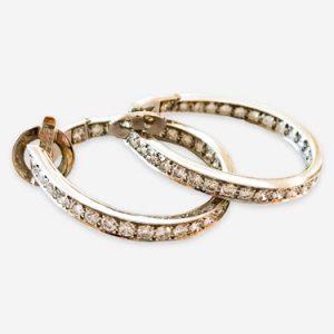 van cleef diamond hoop earrings