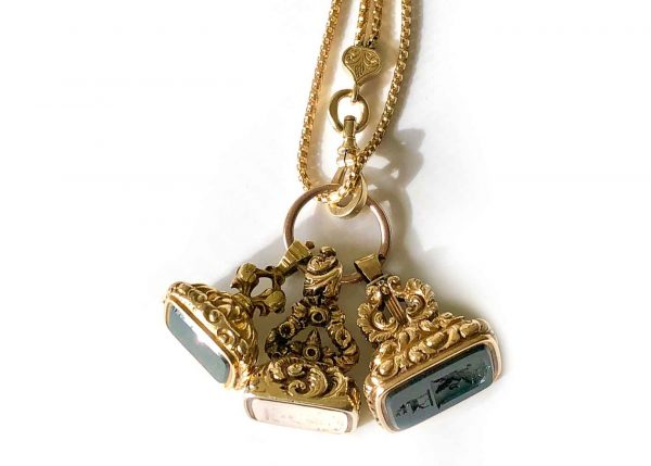 antique fob chain necklace