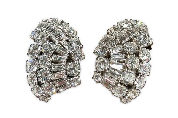 suzanne belperron 20 carat diamond earrings, ca.1940s